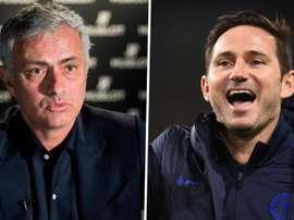 Lampard tacle Mourinho. AFP