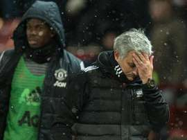 Jose Mourinho, Paul Pogba, Man Utd. AFP