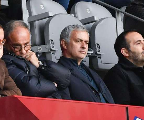 Mourinho was in attendance for Lille's home game with Montpellier. GOAL