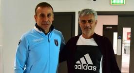 Mourinho dropped by. GOAL