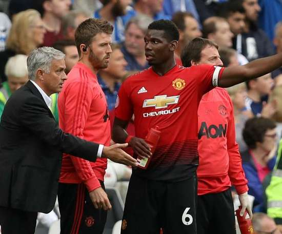 Mourinho and Pogba clashed in training on Wednesday. GOAL