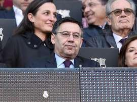 Spunta il logo del Real Madrid sul box di Bartomeu. Goal