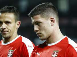 Real Madrid's Jovic (r) will be looking to make an impact for Serbia at the U21 Euros. GOAL