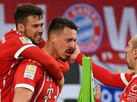 Le Bayern après un but de Wagner. Goal