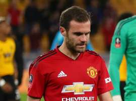A dejected Mata after the defeat to Wolves on Saturday. GOAL
