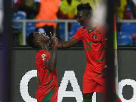 Juary Soares celebrates his goal against Gabon. Goal