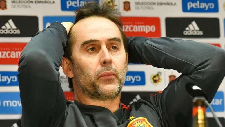 Lopetegui irá se pronunciar apenas na Espanha.Goal