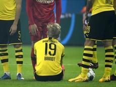 Brandt ratera aussi le match retour contre le PSG. Goal