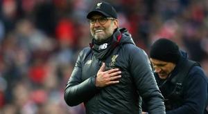 Klopp: Liverpool still embracing pressure.