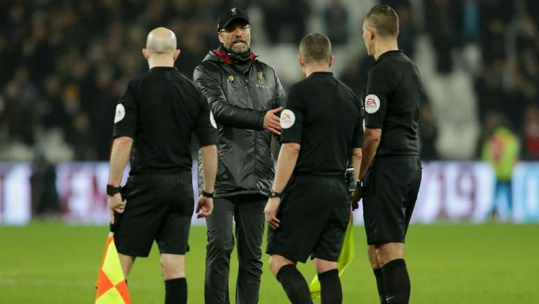 Klopp said that the referee favoured West Ham from early in the first-half. GOAL