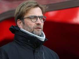 Jürgen Klopp dans un match de la FA Cup avec Liverpool. AFP