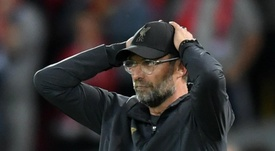 Jurgen Klopp looking dissappointed. GOAL