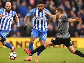 Locadia made a goalscoring debut for Brighton. GOAL