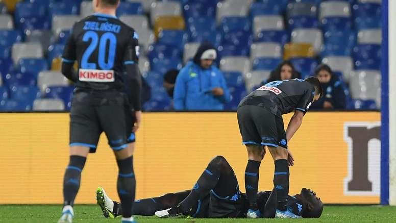 Koulibaly è stato costretto ad uscire dal campo. Goal