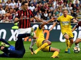 Kalinic a été l'homme-clé du Milan face à l'Udinese. GOAL