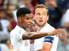 Rashford using England team-mate Kane as goalscoring benchmark