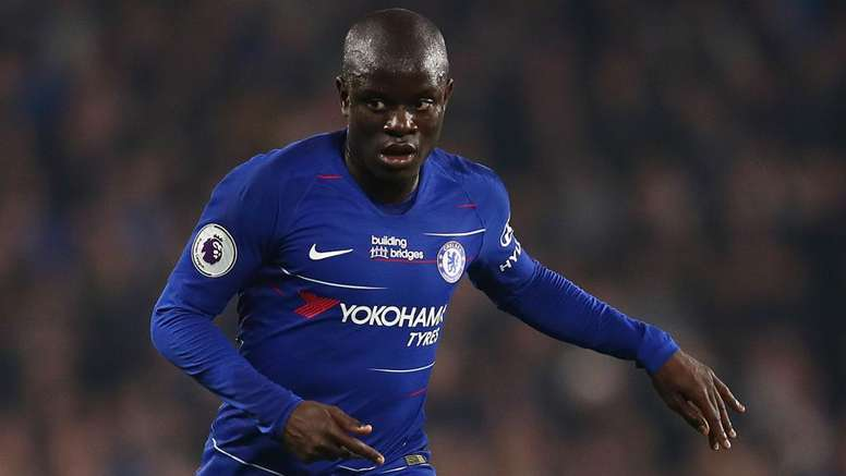 N'Golo Kanté left the field at half time with an injury. GOAL