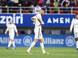 Karim Benzema pictured during Saturday's humbling. GOAL