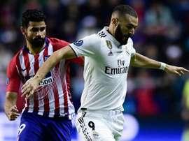 Karim Benzema, Diego Costa, Real Madrid-Atletico Madrid UEFA Super Cup.