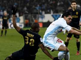 Karim Rekik dans un match de Ligue 1 avec l'Olympique de Marseille. AFP
