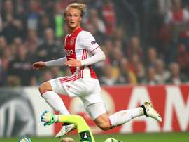 Dolberg will spend next season with Ajax. AFP