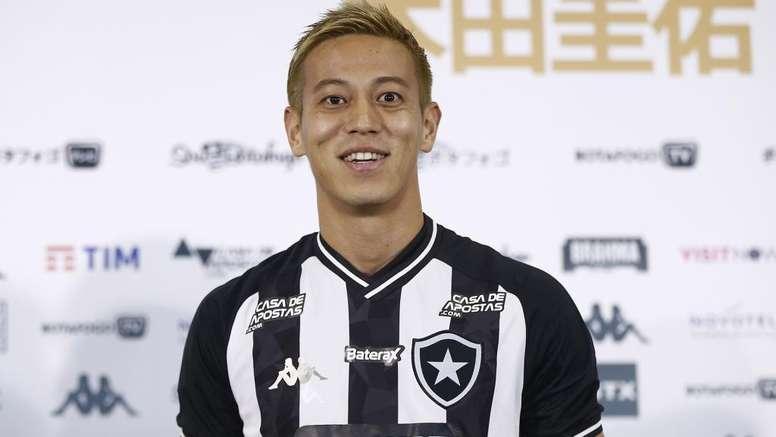 Keisuke Honda scores on debut for Botafogo. AFP