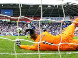 Etheridge saved Kenedy's penalty in the dying minutes of the game. Goal