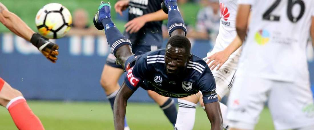 Kenny Athiu was instrumental for Melbourne Victory on Sunday. GOAL