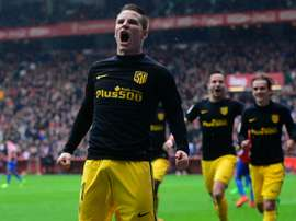 kevin gameiro celebrating one of his three on Saturday. Goal
