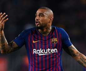 Kevin-Prince Boateng said his goodbyes to the Catalan giants. GOAL