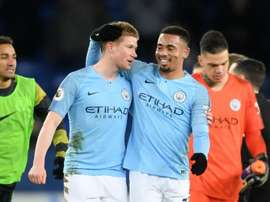 Man City star De Bruyne could be on the bench against Chelsea. Goal