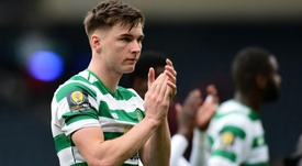 Kieran Tierney looks set to leave Celtic this summer. GOAL