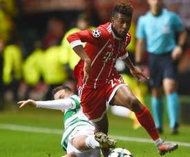 O internacional francês abriu as hostilidades no Celtic Park. Goal