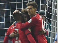 Coman headed in from close range to win the tie in extra time. GOAL