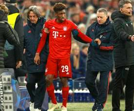 Bayern lose Coman after knee scare in Tottenham encounter. GOAL