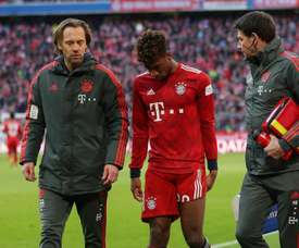 Coman lasted just nine minutes of the match against Hertha. GOAL