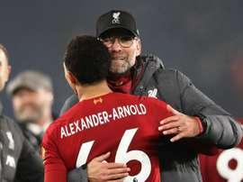Jurgen Klopp has been highly praised by Liverpool's Trent Alexander-Arnold. GOAL