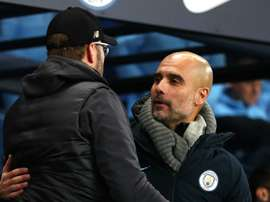 Guardiola congratulated Klopp. GOAL