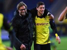 Lewandowski revê o seu mentor. Goal