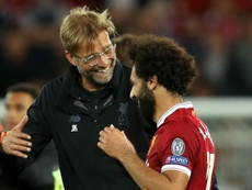 Salah and Klopp have a close bond. GOAL
