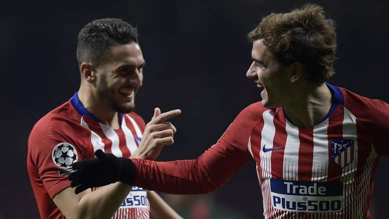 Koke Griezmann Atletico Madrid AS Monaco. Goal