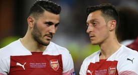 Ozil and Kolasinac were the targets of robbery over the summer. GOAL