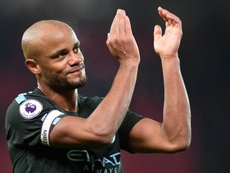 Kompany hopes City can claim the title against United. GOAL