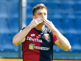 Genoa's Piatek is in the midst of blistering form at the start of this current campaign. GOAL