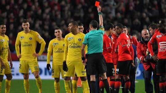 Mbappe accepts Sarr lunge deserved red card