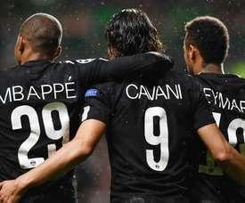 Kylian Mbappe, Edinson Cavani et Neymar, PSG-Celtic. GOAL