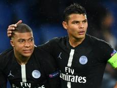 Kylian Mbappe Thiago Silva PSG Paris Saint-Germain 2018-19. Goal