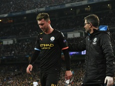 Man City dealt Laporte injury blow during Real Madrid clash. GOAL