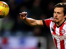 Vibe scored twice to give Brentford victory over Norwich. GOAL