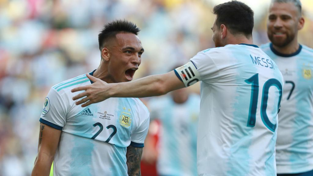 Scaloni thinks Messi and Lautaro would be good together. GOAL